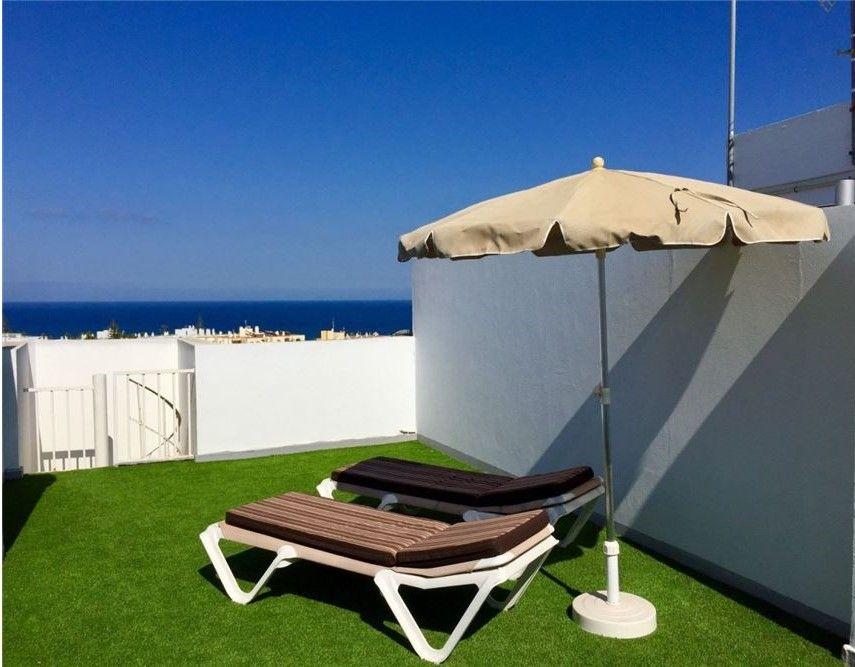 Attic with private rooftop solarium